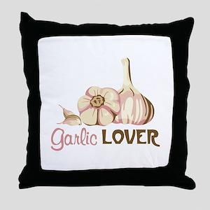 Garlic LOVER Throw Pillow