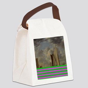 Painting of Ships at sea Canvas Lunch Bag
