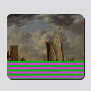 Painting of Ships at sea Mousepad