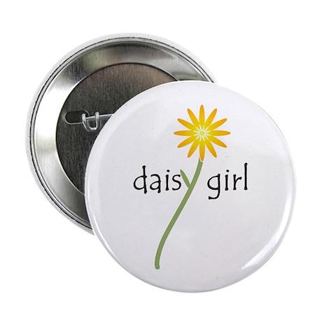 "Yellow Daisy Girl 2.25"" Button (10 pack)"