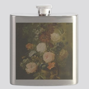 Still Life Painting - Vase of Flowers Flask