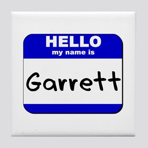 hello my name is garrett  Tile Coaster