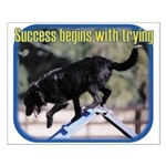 Success Begins With Trying Small Poster