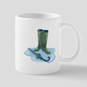 Rain Boots Galoshes Umbrella Rain Mugs