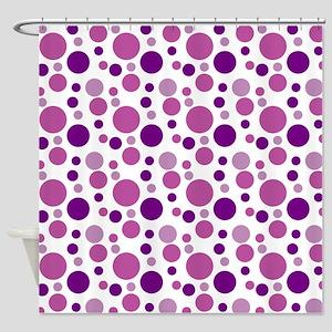 Fun Purple Bubbles Shower Curtain