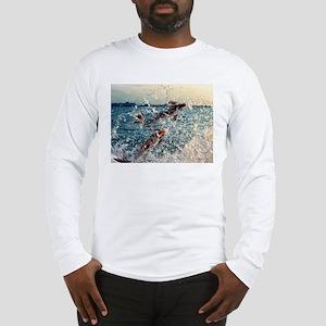 Jumping Fish/ Elephants Long Sleeve T-Shirt