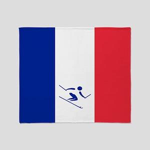 Team Alpine Skiing France Throw Blanket