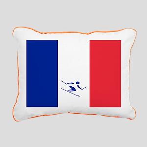 Team Alpine Skiing France Rectangular Canvas Pillo