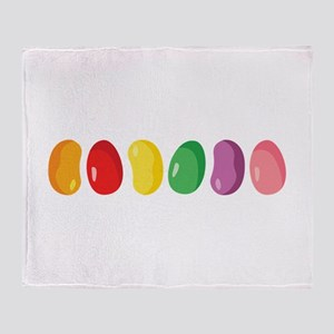Jelly Beans Throw Blanket