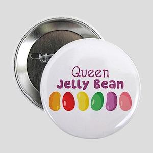 "Queen Jelly Bean 2.25"" Button"