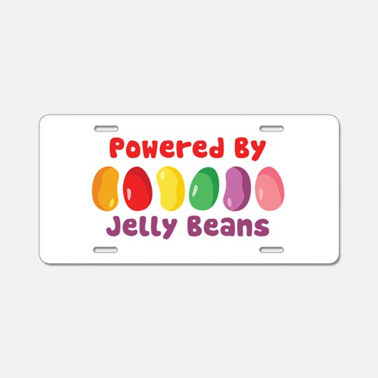 Powered By Jelly Beans Aluminum License Plate