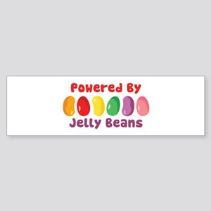 Powered By Jelly Beans Bumper Sticker