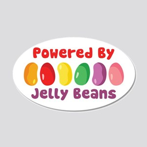 Powered By Jelly Beans Wall Decal
