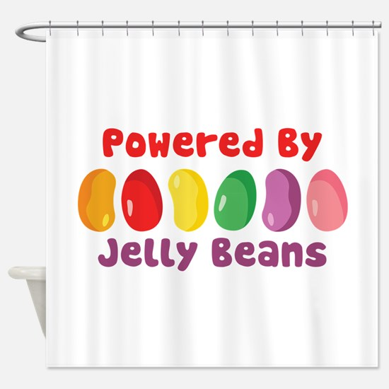 Powered By Jelly Beans Shower Curtain