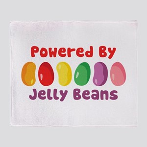 Powered By Jelly Beans Throw Blanket