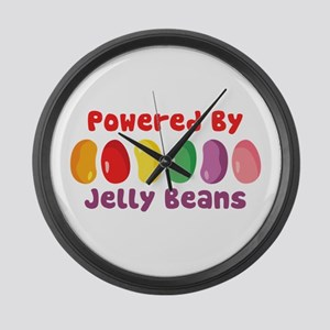 Powered By Jelly Beans Large Wall Clock