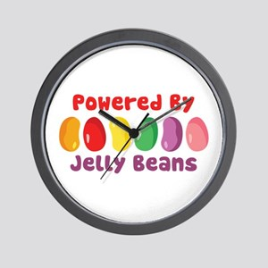 Powered By Jelly Beans Wall Clock