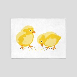Baby Chicks 5'x7'Area Rug