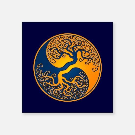 Yellow and Blue Yin Yang Tree Sticker