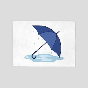 Umbrella Rain Puddle 5'x7'Area Rug