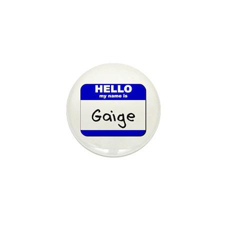 hello my name is gaige Mini Button