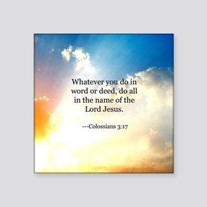 "Bible verse, Colossians 3:1 Square Sticker 3"" x 3"""
