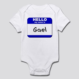 hello my name is gael  Infant Bodysuit