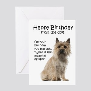 Cairn Terrier Birthday Cards