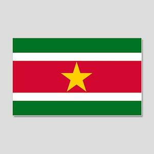 Suriname Flag 20x12 Wall Decal