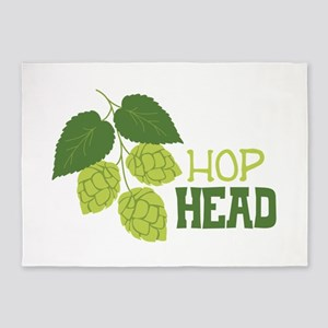 HOP HEAD 5'x7'Area Rug