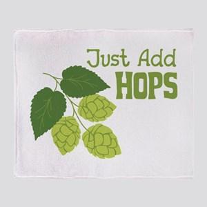 Just Add HOPS Throw Blanket