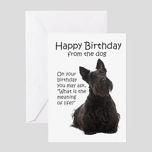 Funny Scottie Birthday Cards