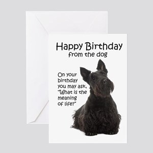 Scottish birthday greeting cards cafepress funny scottie birthday cards m4hsunfo
