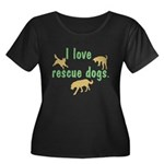 I Love Rescue Dogs Women's Plus Size Scoop Neck Da
