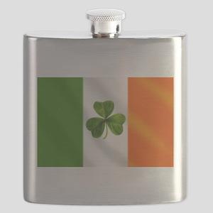 Irish Shamrock Flag Flask