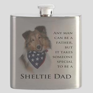 Sheltie Dad Flask