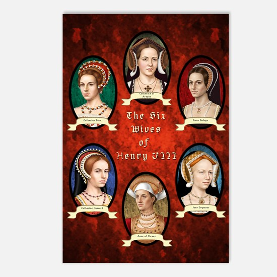 Six Wives of Henry VIII Postcards (Package of 8)