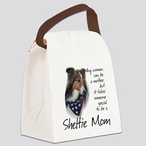 SheltieMom#1 Canvas Lunch Bag