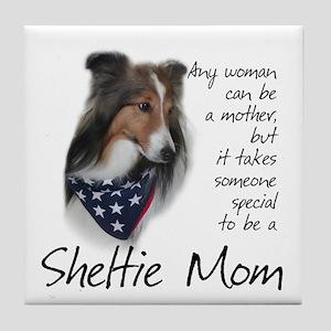 Sheltie Mom #1 Tile Coaster