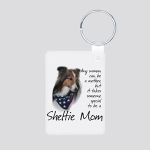 Sheltie Mom #1 Aluminum Photo Keychain