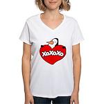 Penguin Lover Women's V-Neck T-Shirt