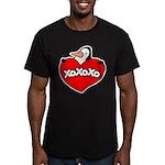 Penguin Lover Men's Fitted T-Shirt (dark)
