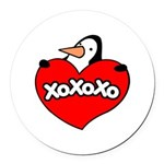 Penguin Lover Round Car Magnet