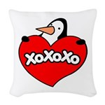 Penguin Lover Woven Throw Pillow
