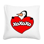 Penguin Lover Square Canvas Pillow