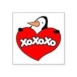 Penguin Lover Square Sticker 3