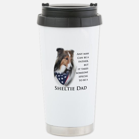 Sheltie Dad Stainless Steel Travel Mug