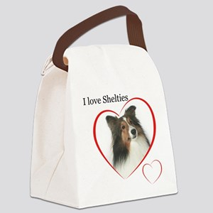 Sheltie Love Canvas Lunch Bag