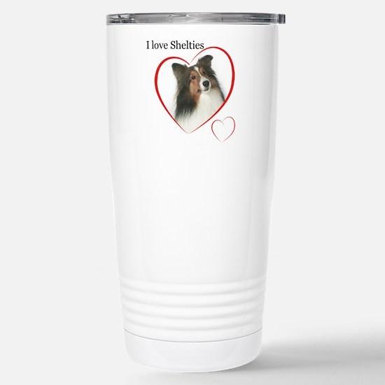 Sheltie Love Stainless Steel Travel Mug