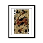 Queen of Spades Framed Panel Print